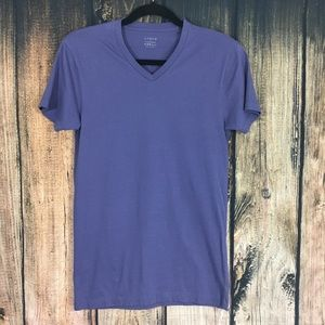 J Crew Purple V-Neck Shirt X-Small